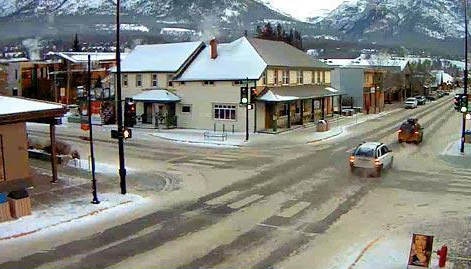 Canmore Main Str in Canmore - Provinz Alberta - Kanada